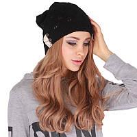 Модная шапка женская черная
