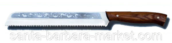"""Нож """"Спутник"""" хлеборезный с пилой 310х30мм (ножи кухонные)"""