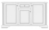Комод белый Вайт 3Д1Ш