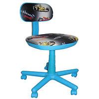 Кресло детское АМФ Свити голубые машинки