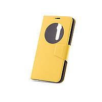Чехол (книжка) с окошком для Asus Zenfone 2 (ZE551ML/ZE550ML) желтый