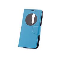 Чехол (книжка) с окошком для Asus Zenfone 2 (ZE551ML/ZE550ML) голубой