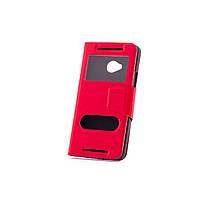 Чехол (книжка) с окошком для HTC One DUAL/802d красный