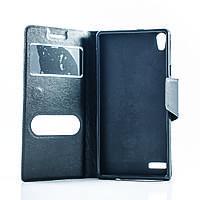 Чехол (книжка) с окошком для Huawei Ascend P6 черный