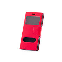 Чехол (книжка) с окошком для Huawei Ascend P8 красный