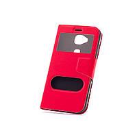 Чехол (книжка) с окошком для Huawei G8 / GX8 красный