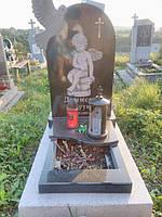 Детские гранитные памятники. Детский памятник с голубем