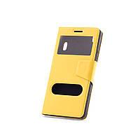 Чехол (книжка) с окошком для Lenovo A7000/K3 Note/K50T желтый