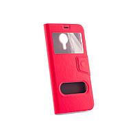 Чехол (книжка) с окошком для Meizu MX5 красный