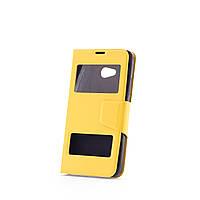 Чехол (книжка) с окошком для Microsoft Lumia 640 желтый