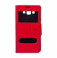 Чехол (книжка) с окошком для Samsung A700H / A700F Galaxy A7 красный