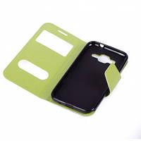 Чехол (книжка) с окошком для Samsung G360H/G361H Galaxy Core Prime Duos зеленый