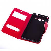 Чехол (книжка) с окошком для Samsung G530H/G531H Galaxy Grand Prime красный