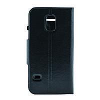 Чехол (книжка) с окошком для Samsung G800H Galaxy S5 mini черный