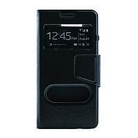 Чехол (книжка) с окошком для Samsung G850F Galaxy Alpha черный