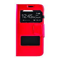 Чехол (книжка) с окошком для Samsung G925F Galaxy S6 Edge красный