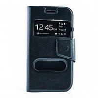 Чехол (книжка) с окошком для Samsung Galaxy J1 Duos SM-J100 черный