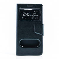 Чехол (книжка) с окошком для Samsung Galaxy Note 5 черный