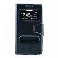 Чехол (книжка) с окошком для Samsung N910H Galaxy Note 4 черный