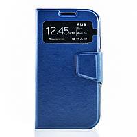 Чехол (книжка) с окошком для Samsung i9500 Galaxy S4 синий
