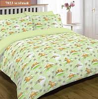 """Детский комплект постельного белья """"Viluta"""" ранфорс Вилюта № 7823 зеленый"""