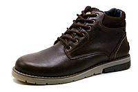 Ботинки зимние H.Denim, мужские, на меху, натуральная кожа, коричневые, р. 40