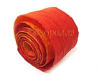 Рафия бумажная (красно-оранжевая))