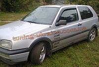 Дефлекторы окон (ветровики) COBRA-Tuning на VW GOLF III 3D 1991-1997