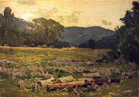 Картина Июльский пейзаж автор Вагин Б.И. 1964 г.
