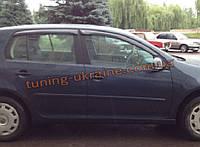 Дефлекторы окон (ветровики) COBRA-Tuning на VW GOLF PLUS 5D 2004-09