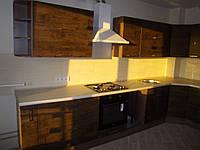 Кухня «Корабельное дерево» матовая