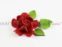 Квіти з мастики - Роза Королевська - Червона ∅90
