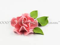 Квіти з мастики - Роза Королевська - Рожева ∅90