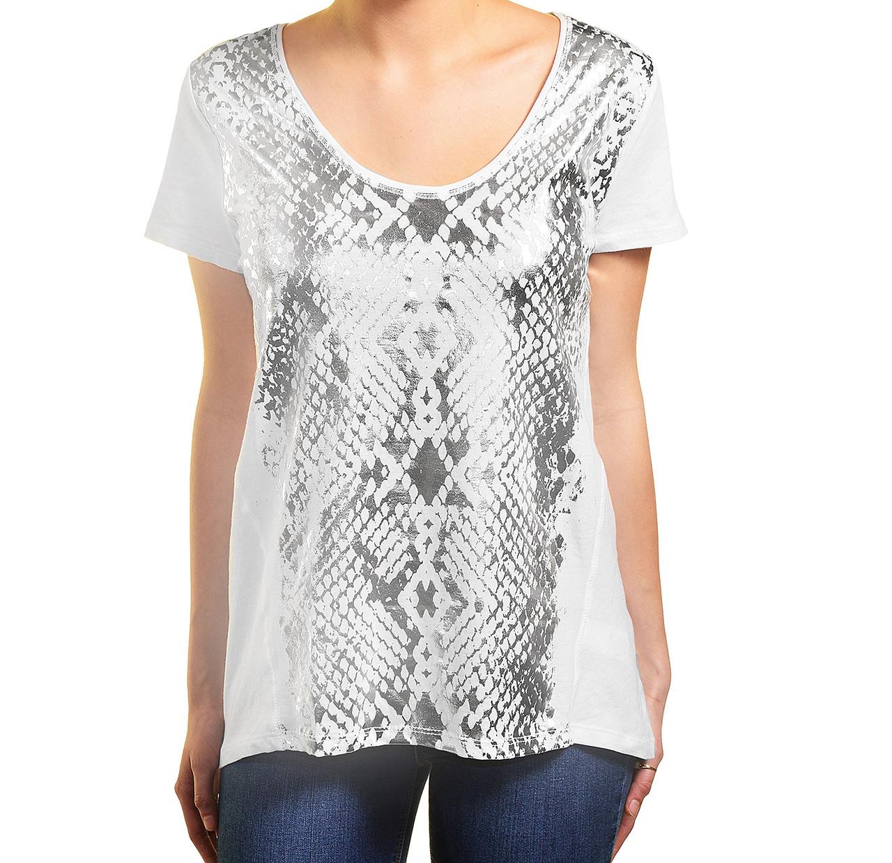 Футболка DKNY Jeans, Silver/White