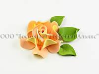 Квіти з мастики - Роза Королевська - Персикова ∅90
