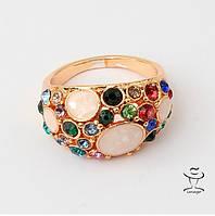 Женское Кольцо цветные камни