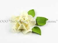 Квіти з мастики - Роза Королевська - Кремова - ∅90