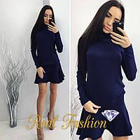 Модный и стильный костюм ткань турецкая ангора темно-синий