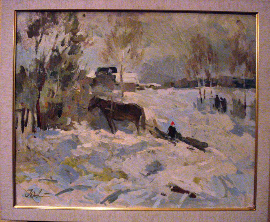 Картина Зимой  Александрочкин Ю.М. 1989 год