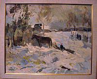 """Картина """"Зимой"""".  Александрочкин Ю.М.1989 год"""