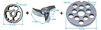 Комплект полунгер H82 с решеткой 12 мм