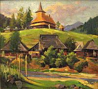 Картина Закарпатское селение Якубек К.М. 1970-е годы