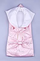 Конверт для новорожденных с бантом 1013 розовый