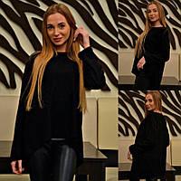 Женский стильный асимметричный свитер 095/1 / батал / в расцветках