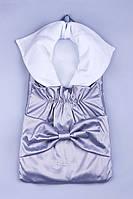 Конверт для новорожденных с бантом 1013 серый