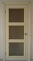 Двери межкомнатные из натурального дерева с резьбой, под заказ в Виннице
