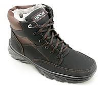 Ботинки мужские зимние на меху Б-2,шнурок,молния