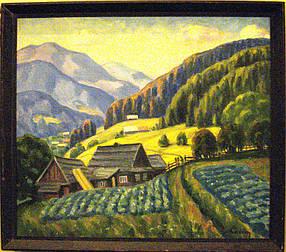 Картина Карпаты весной  автор Калинин И.М. 1970-е годы