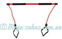 Палка гимнастическая для фитнеса с эспандерами Bodi Shaper Stick 932: длина 100см