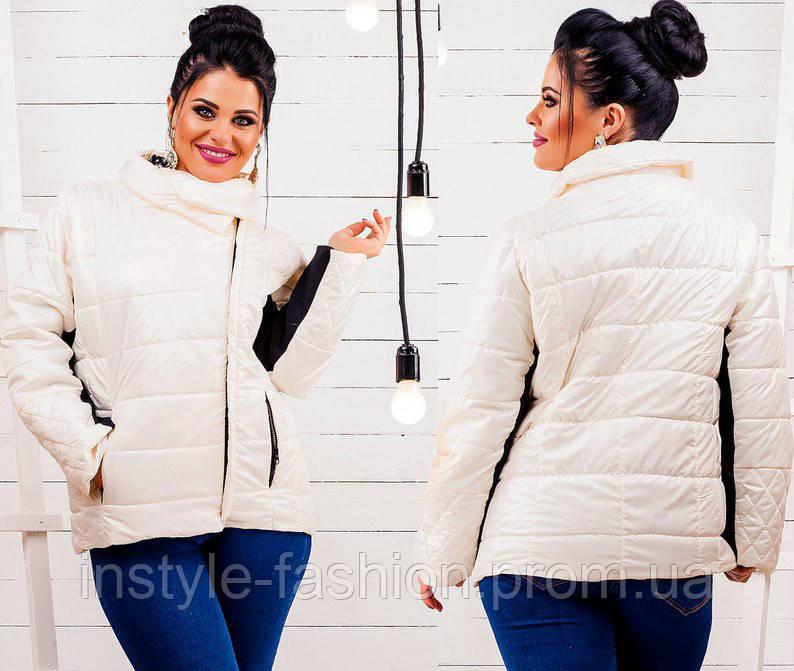 Женская куртка ткань плащевка на синтепоне большого размера до 52